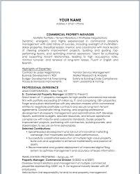 Property Manager Resume Resume Bank