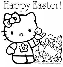 Easter Coloring Pages For Kids Free Page Duck Ayushseminarmahainfo