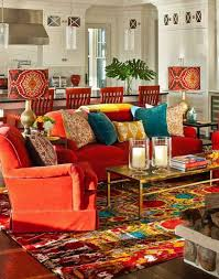 Red And Blue Living Room Decor Living Room Chic Bohemian Living Room Decor With Classic Blue