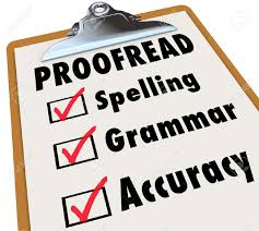 proof checklist and checked boxes next to the words spelling proof checklist and checked boxes next to the words spelling grammar and accuracy as the