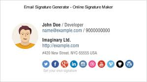 Email Signature Html 31 Best Email Signature Generator Tools Online Makers Free
