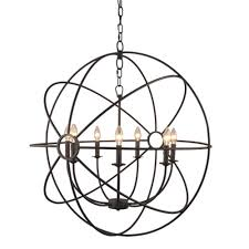 y decor infinity 7 light rustic bronze mini chandelier