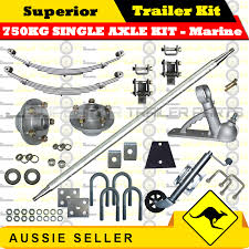 superior diy 750kg single axle trailer kit eye to eye sle springs marine