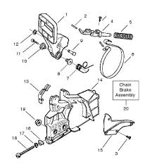 chainsaw blade drawing. partner 351, 370, 390, 420 (952801741) chainsaw chain brake \u0026 clutch cover spare parts diagram blade drawing