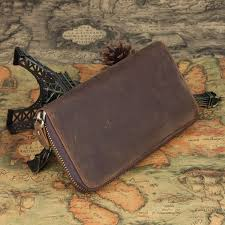 brown western leather wallets mens leather clutch wallet