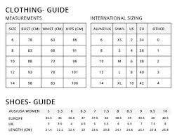 Australian Clothing Sizes Related Keywords Suggestions