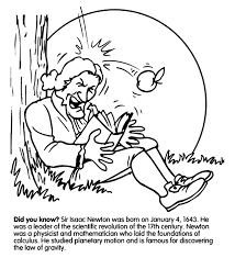 Small Picture Isaac Newton Gravity coloring page Science Physical Science