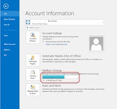 How To Reduce The Size of a Full or Nearly Full Outlook Mailbox IT