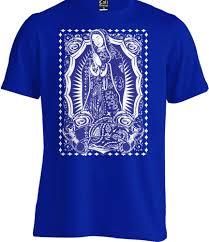 Virgin Mary синяя бандана футболка с принтом мексиканская чоло чикано тату La