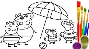 how to draw peppa pig family coloring pages coloring pages pig coloring page 12