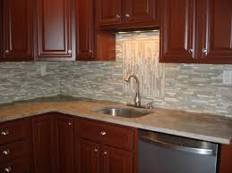 backsplash ideas for kitchen using glass tile backsplash in tictac pattern with light grey color