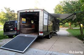 exterior 2016 forest river cherokee grey wolf toyhauler set up for back country cing ann arbor