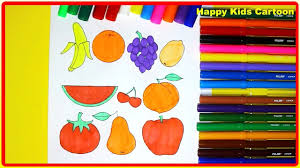 Small Picture How To Color Fruits Fruits Coloring Pages for Kids Bananas