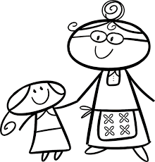 Kleurplaat Oma En Kleinkind