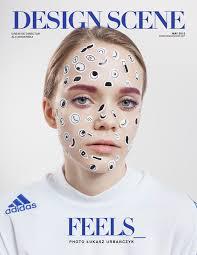 sticker makeup editorials
