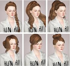 Skysims hairstyles part 1 retextured by Liahx - Sims 3 Hairs