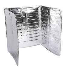 3 sided splash guard aluminium foil gas
