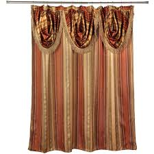 this elegant shower curtain and valence set will give your bathroom a dignified look you