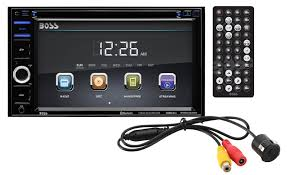 amazon com boss audio bvb9364rc double din touchscreen amazon com boss audio bvb9364rc double din touchscreen bluetooth dvd cd mp3 usb sd am fm car stereo 6 2 inch digital lcd monitor wireless remote