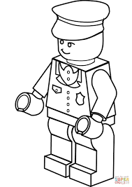 Police Coloring Pictures Lego Policeman Coloring Page Free