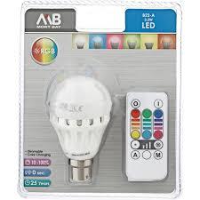 Mort Bay Lighting Mb Globe Rgb Colour Changing Led B22 3w Each Woolworths