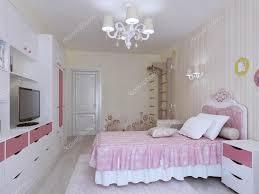 Schlafzimmer Mit Schwedischen Wand Interieur Stockfoto Kuprin33