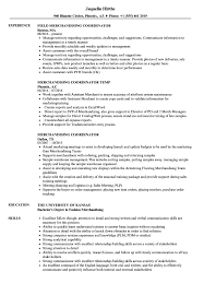 Sample Resume For Merchandiser Job Description Merchandising Coordinator Resume Samples Velvet Jobs 77