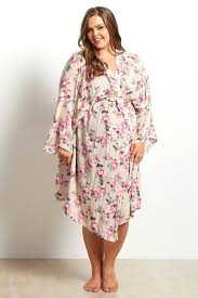 Miss Elaine Size Chart Robes Plus Size Women Floral Printed Dresses Bohemian O Neck