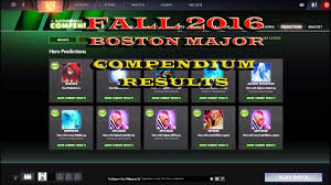 dota 2 boston major 2016 fall compendium results youtube