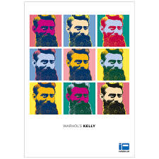 ned kelly n iron outlaw hero legend andy warhol inspired pop art ned kelly original tribute warhol s kelly full colour poster