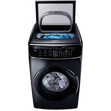 How Do High Efficiency Washers Work Samsung 60 Total Cu Ft High Efficiency Flexwash Washer In White