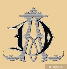Nálepka Vintage Monogram Ad Tetování Pixerstick