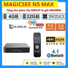 Android Tivi Box Magicsee N5 Max - Phiên bản 2020 - Chip S905X3 - Ram 4GB -  Bộ nhớ 32GB