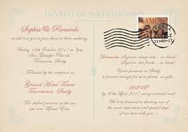 Vintage Postcard Wedding Invitations