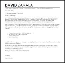 Sample Research Cover Letter Clinical Research Associate Cover Letter Sample Cover Letter