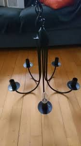 ikea molnig black chandelier used drop
