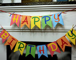 custom happy birthday banner brightly colored birthday banner rainbow colors birthday