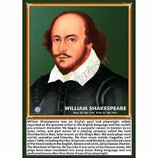 William Shakespeare Portrait Chart