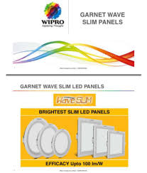 wipro 15w panel lights pack of 2