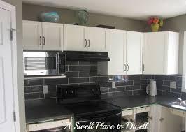 Black Kitchen Backsplash Black Glass Subway Tile Backsplash Amys Office