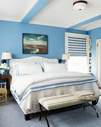 blue wall paint bedroom. Bright Blue In The Bedroom Powder Wall Paint - Water-colored Interior L