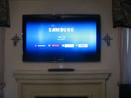 samsung tv on wall. photo samsung tv mounted over fireplace with in wall wiring dallas tx tv on g
