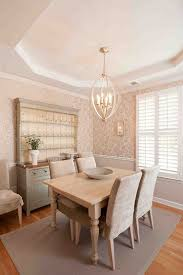 Dinning Rooms:Eclectic Dining Room With Black Hutch And Classic Chandelier  Beautiful Dining Room With
