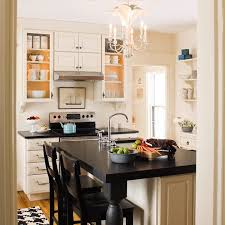 Make Your Own Small White Kitchen Design With Unique Chandelier Diy White Small  Kitchen Design With Symmetrical Cabinets Storage Diy All Whtie Painted Of  ...
