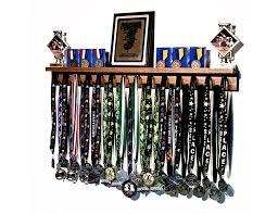 medal display rack medalrack3 wood medalrack3 white