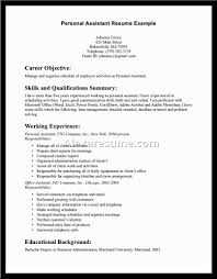 Personal Assistant Resume Sample Resume Samples