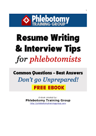 resume writing interview tips for phlebotomists phlebotomy resume