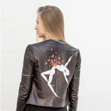 leather jacket hand painted r