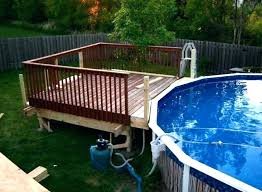 above ground pool decks pics designs p
