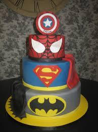 Superhero Cake Design Superhero Cake Captain America Spiderman Superman Batman Amy